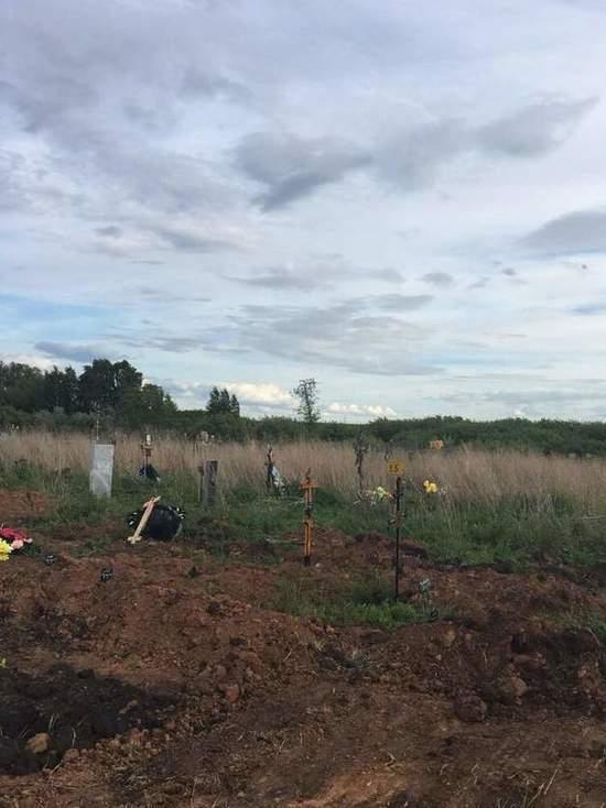 В Курской области многодетным семьям дали участки рядом с кладбищем