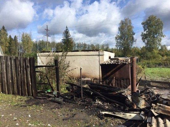 Две дачи сгорели под Калугой