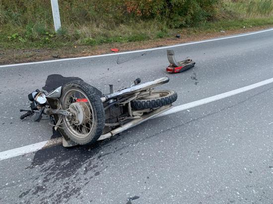 Под Нижней Турой погиб мотоциклист без прав