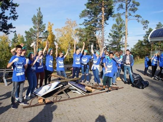 Школьники собрали на «Столбах» целую тонну мусора