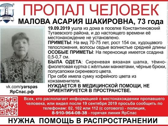 В Ярославском районе ищут дезориентированную пенсионерку