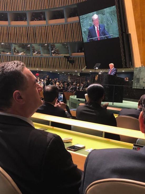 Глава МИД Израиля Исраэль Кац принимает участие в Генассамблее  ООН