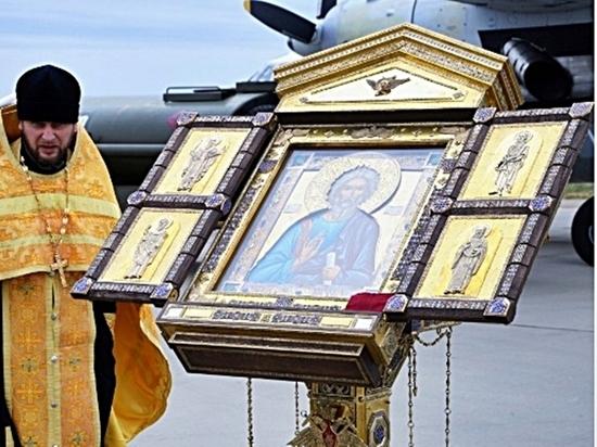 С иконой - в Тартус: «Адмирал Макаров» отправился к берегам Сирии