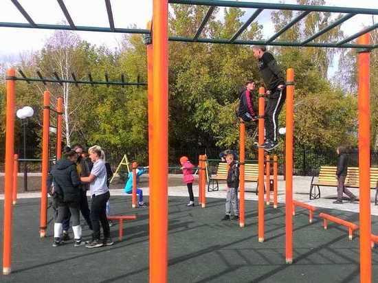 В Черепаново парк превратился в бесплатный фитнес-центр