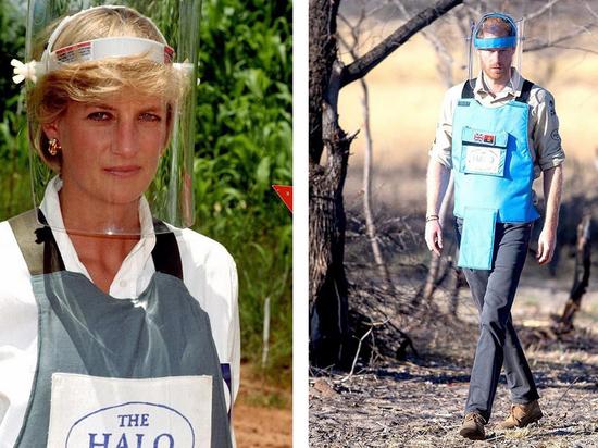 """Принц Гарри повторил """"путь принцессы Дианы"""" по минному полю в Анголе"""