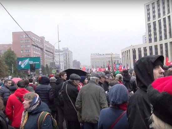 МВД: на митинге оппозиции в Москве собрались 20 тысяч человек