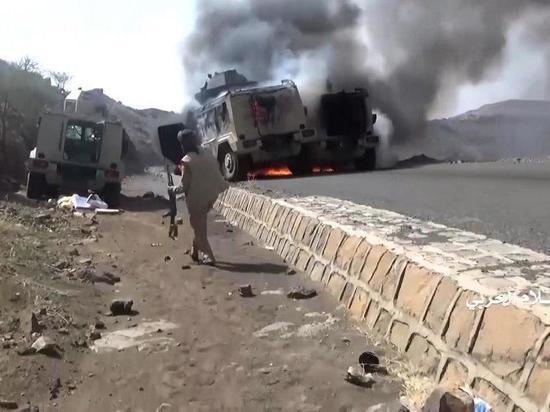Появилось видео уничтожения армии Саудовской Аравии хуситами