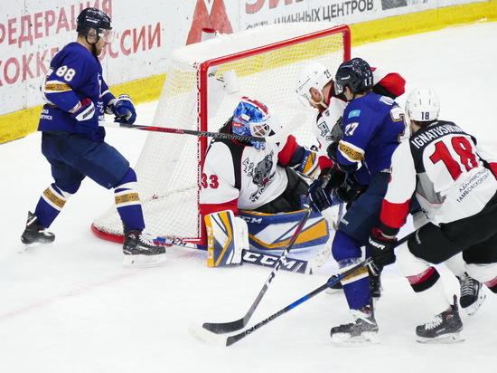 ХК «Тамбов» потерпел третье поражение в Казахстане