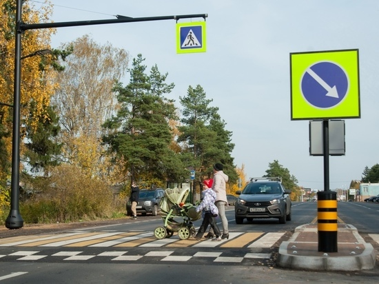 Губернатор проверил качество новых пешеходных переходов