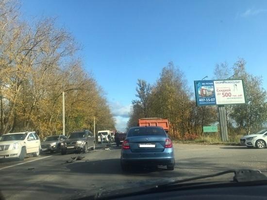 Пассажирка Renault выпала из машины во время ДТП под Петербургом