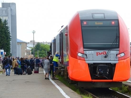 Свыше тысячи туристов приехали на поезде из Санкт-Петербурга в Иваново
