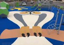 В Новом Уренгое сделали детскую площадку в виде филина