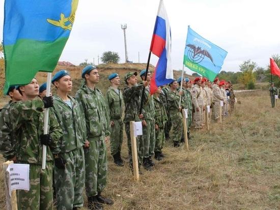 Юнармейцы провели эстафету в честь калмыцкого генерала