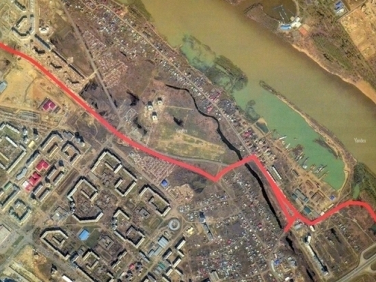 На Левобережье Омска начали расчищать место под дорогу – дублер