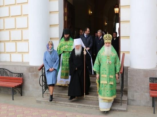 Серпухов встречал митрополита Крутицкого и Коломенского Ювеналия