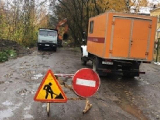 На территории Ленинского района Иваново произошла авария на водопроводе