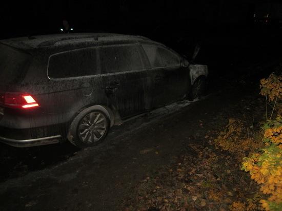 В Сафоново горел «Volkswagen Passat»