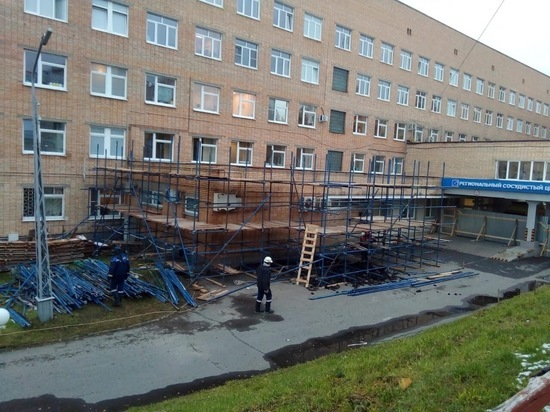 В республиканской больнице началось строительство нового отделения