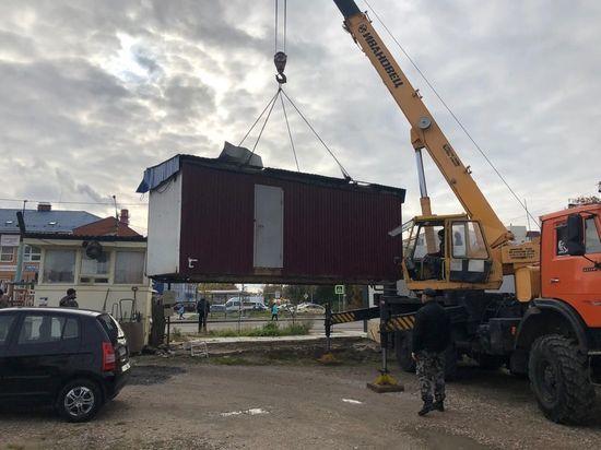 В Серпухове продолжают демонтировать несанкционированные киоски