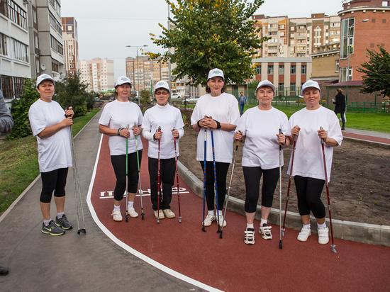Казанцев приглашают на бесплатные тренировки по скандинавской ходьбе