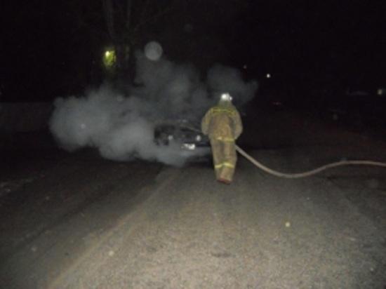 Ночью в Иванове на Рабочем поселке сгорел автомобиль
