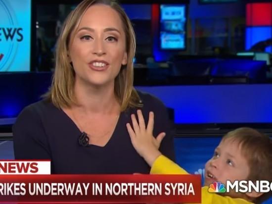 Курьез наТВ: сын американской ведущей чуть несорвал эфир
