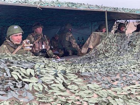 Росгвардия проводит в Чечне учения с вертолетами и беспилотниками