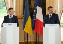 Зеленский захотел от Франции большей поддержки в конфликте с Россией