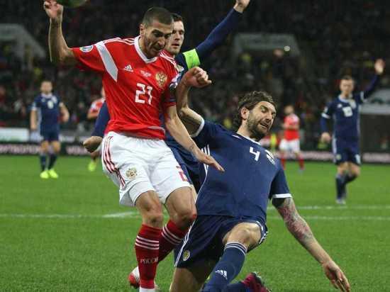 Сборная России с разгромным счетом победила Шотландию в отборе Евро-2020