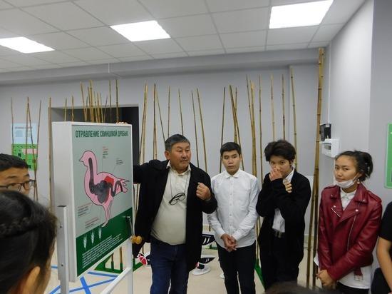 В калмыцком заповеднике открылась выставка о краснокнижной птице