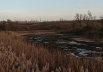 Под Оренбургом пересохло водохранилище