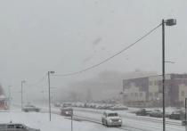 Губкинский завалило снегом