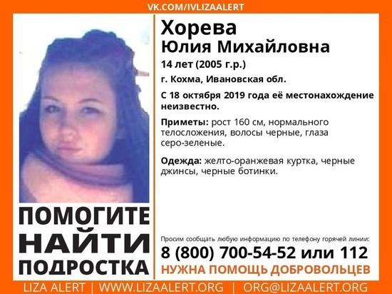 В Ивановской области пропала девочка-подросток