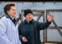 Наталья Комарова посетила КФХ в Ярках