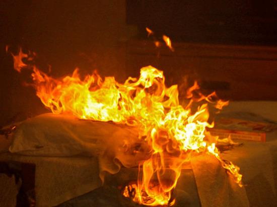 В доме престарелых в Тверской области тушили горящее одеяло