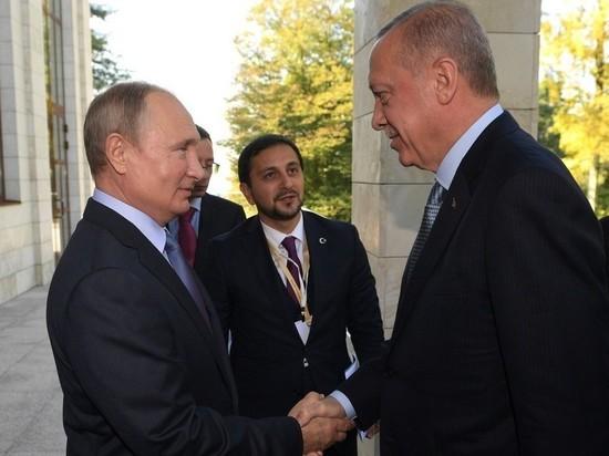 Путин пошутил с Эрдоганом: