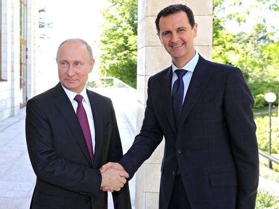 Путин сообщил Асаду о переговорах с Эрдоганом