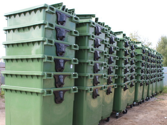 В Чувашии поступили почти 3 тысячи евроконтейнеров для ТБО