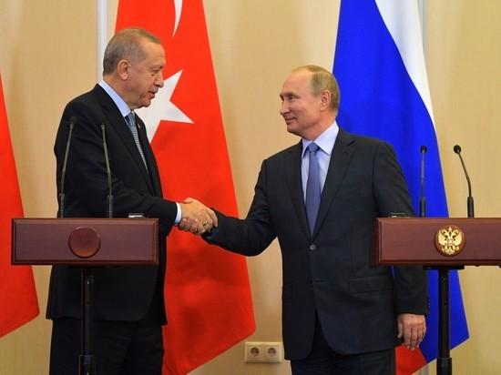 Путин и Эрдоган проговорили один на один более двух часов