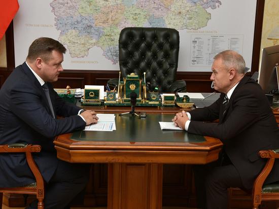Любимов встретился с главой Кадомского района