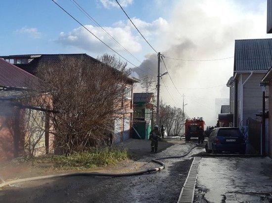 В Иркутске горели два частных дома
