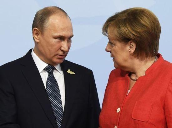 Путин и Меркель обсудили дальнейшие поставки российского газа в ЕС