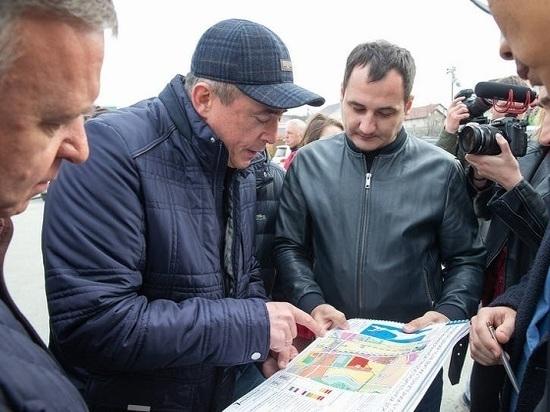 Губернатор посетил объекты строительства в областном центре