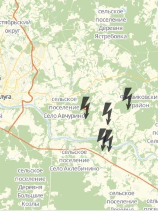 Октябрьскую грозу зафиксировали в Калужской области