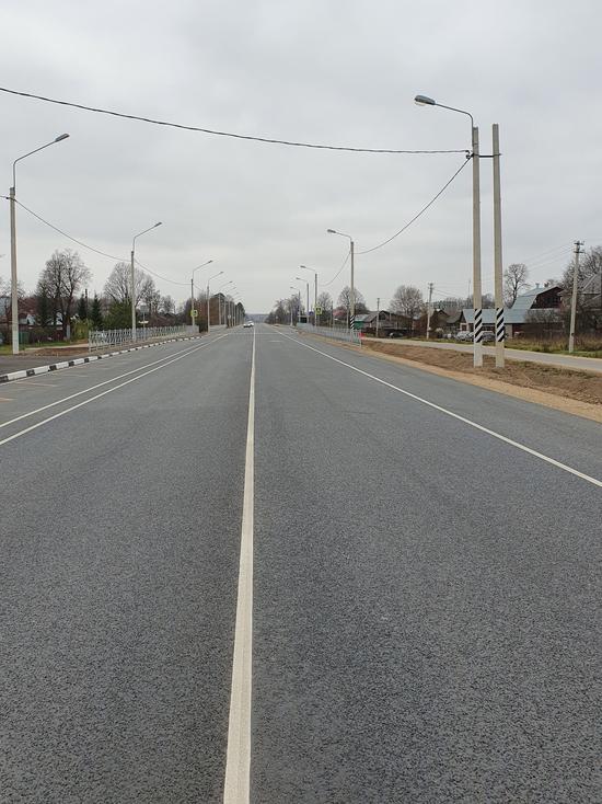 В Калужской области капитально отремонтировали часть федеральной трассы А-130