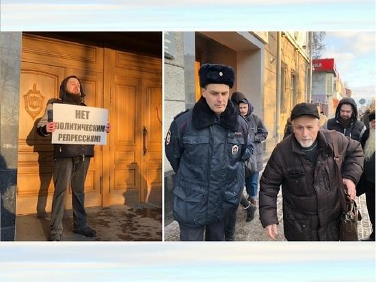 От здания архангельского управления ФСБ оперативно убрали пикетчика