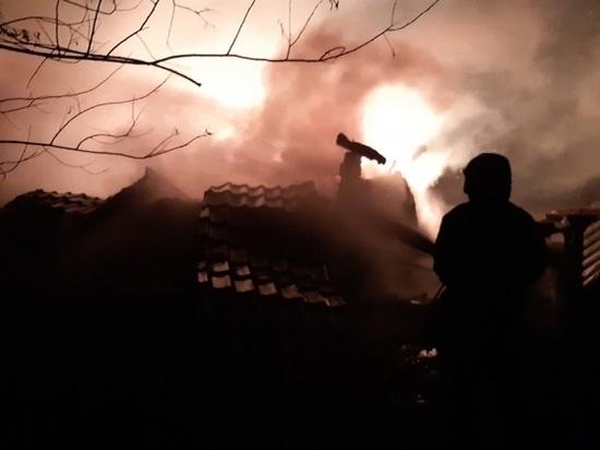 Под Козельском сгорел жилой дом