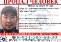 Житель Якутии с татуировкой собаки пропал в Чите месяц назад