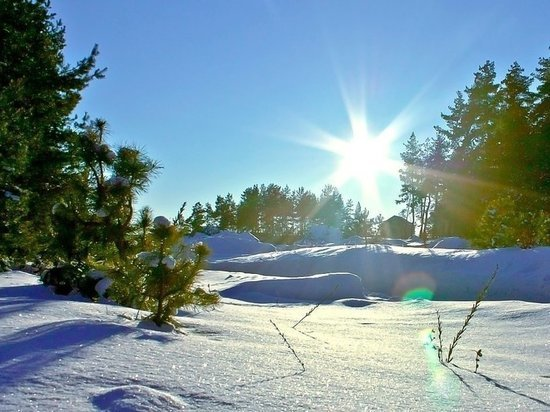 Сегодня в Архангельске мороз и солнце