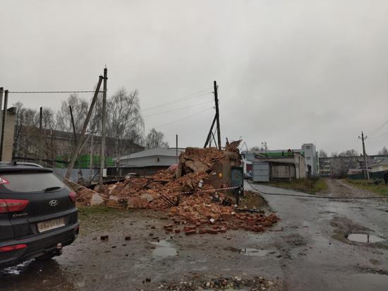 Из-за обрушения трансформаторной будки в Вичуге, люди остались без света
